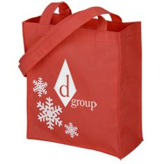 View a larger, more detailed picture of the Holiday Mini Tote Bag $1.65 min 150 only red