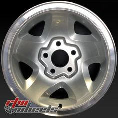 """Chevy Blazer wheels for sale 1995-1997. 15"""" Silver rims 5028 - http://www.rtwwheels.com/store/shop/15-chevy-blazer-wheels-oem-silver-machined-lip-5028/"""