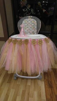 tulle highchair skirt Birthday Frocks, Birthday Candy, Baby Girl First Birthday, First Birthday Photos, 1st Birthday Decorations, Birthday Party Themes, Joint Birthday Parties, Birthday Highchair, Ballerina Party