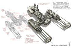 ArtStation - Y Wing Bomber Concept sketch, Shane Molina