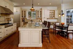 Custom kitchen with farmers style sink