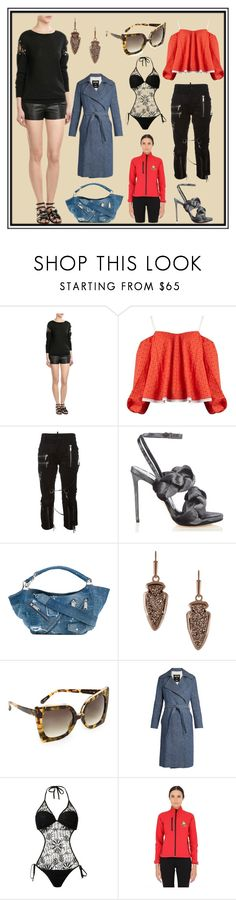 """Look Fantastic"" by cate-jennifer ❤ liked on Polyvore featuring Laurence Dacade, Anna October, Dsquared2, Marco de Vincenzo, Kendra Scott, N°21, MSGM, Amir Slama and Dynamo Camp"