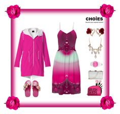 "Choies and my ""Pink Frosted Sunrise"" Fractal Dress by artist4god-rose-santuci-sofranko on Polyvore featuring polyvore, fashion and style"