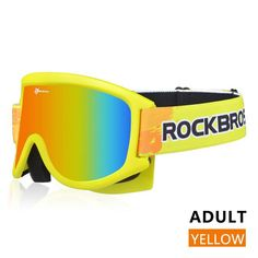 ROCKBROS Ski Goggles Glasses Snow Double-Layer Snowboarding Anti-Fog PC Lenses TPU Frame UV Skiing Eyewear Spectacles Men Women