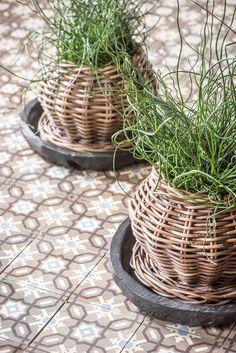 Baskets home, Belgian designer Gommaire bohochic