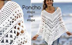 Poncho Au Crochet, Mode Crochet, Crochet Shawls And Wraps, Crochet Socks, Crochet Baby, Crochet Top, Crochet Designs, Crochet Patterns, Hello Kitty Crochet