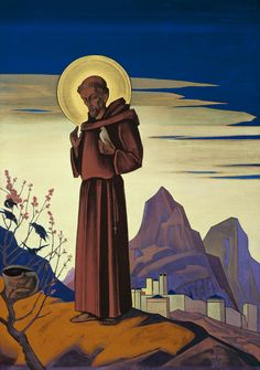 St. Francis of Assisi, by Nicholas Roerich, 1931