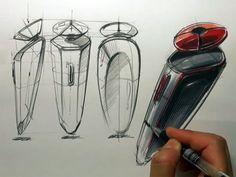 Sangwon Seok sketches an electric razor   more tutorials: http://www.carbodydesign.com/tutorials/2d/industrial-design-sketching-tutorials/