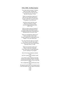 Still i rise – by maya angelou