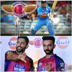 Congratulations ‪#‎Pune‬, ‪#‎RPS‬, Captain ‪#‎MSD‬! Great batting, ‪#‎Rahane‬!