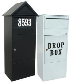City Mail/Parcel Box - Do you need more room? Our parcel mailboxes can easily hold two weeks of mail. Made of strong, galvanized steel and available in gray or black. Letter/parcel flap with soft closing mechanism: elegant and silent. Fitted with a Ruko lock.