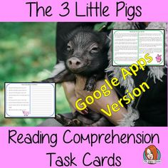 Distance Learning The Three Little Pigs Digital Reading Comprehension Teacher Resources, Classroom Resources, Three Little Pigs, Kids Reading, English Lessons, Task Cards, Reading Comprehension, Teaching English, Lesson Plans