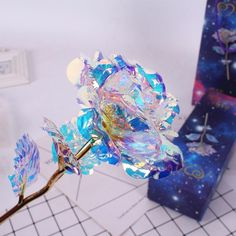 Galaxy Rose Flower Valentine's Day Lovers' Gift Romantic Crystal Rose With Box Rosen Box, Cristal Rose, Valentine Day Gifts, Valentines, Forever Rose, Magical Jewelry, Fantasy Jewelry, Resin Crafts, Cute Jewelry