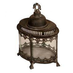 6cb765629f3 Lanterna Decorativa de Metal e Vidro Bihar l Maria Pia Casa