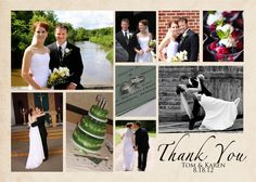 Wedding Thank You Card Collage 9 photos to by gwenmariedesigns