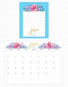 June 2017 calendars