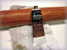 Make PVC pipe look like wood.
