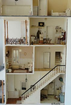 Miniature doll house: looks like the San Franciscan I have plans for