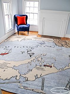 Long Island Map Rug - Design your own with @Custom Cool