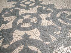 Preciosas aceras de mosaicos en Lisboa