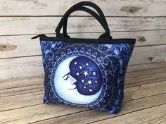 The Bohemian Spirit Small Handbags, Blue Moon, Reusable Tote Bags, Spirit
