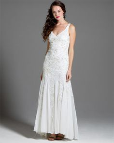Sue Wong White Strapless Feather Gown LOVE THIS DRESS WOULD SO ...