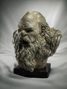 // Making Of 'Bronze Bust' by Fernando Ometto  Software: 3ds Max, ZBrush