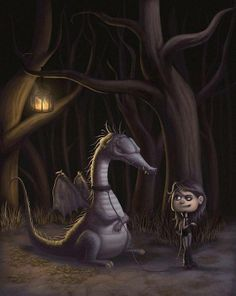 Illustrations by Filipe Laurentino Funny Dragon, Pet Dragon, Dragon Eye, Dragon Girl, Forest Illustration, Cute Illustration, Cute Dragons, Imagine Dragons, Dragon Pictures