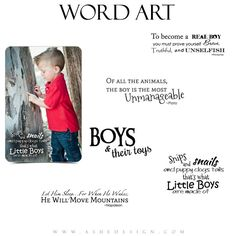 Boy Word Art Quotes - Snips & Snails
