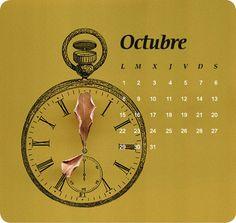 october / josellopis.com / design / calendar / creative art / 2012 / octubre