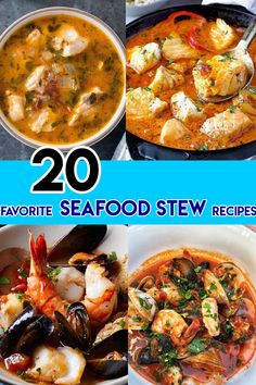 If you are seafood and fish lover, our easy and delicious seafood stew recipes are for you. In today's post, let's discover 20 stew recipes for wonderful meals. From now, you can enjoy taste of seas right at your home instead of having them at restau Seafood Stew, Seafood Dinner, Fish And Seafood, Seafood Platter, Fish Recipes, Seafood Recipes, Recipies, Healthy Recipes, Vegetable Dishes