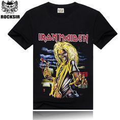 T-shirt Männer Iron Maiden Marke 3D Stil 2016 Schwermetall Streetwear männer T-shirt Baumwolle Casual Kurzen Ärmeln Top Tees