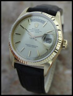 AUTHENTIC MENS SWISS SOLID GOLD ROLEX 1803 OYSTER PERPETUAL DAY DATE PRESIDENT