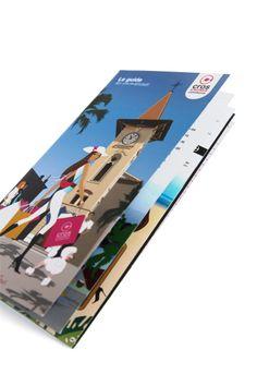 Identité visuelle et guide commerçants FISAC Cros de Cagnes @ La Langue du Caméléon : agence de design stratégique et créatif pour les marques digitales. www.cameleons.com