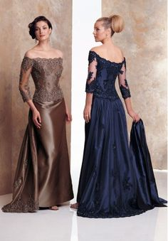 1.Bateau Sheath Vintage Long Lace Mother of The Bride Dress with Cap Sleeves  2.Long Mother of The Bride Dress features Beaded Applique Embellishments and Stunnung Back with Pleated Satin Waistband