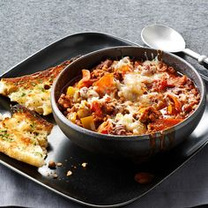 Contest-Winning Pepperoni Pizza Chili Recipe -Pizza and chili together—what could be better? Fill folks up at halftime when you set out bowls of this chili. —Jennifer Gelormino, Pittsburgh, Pennsylvania