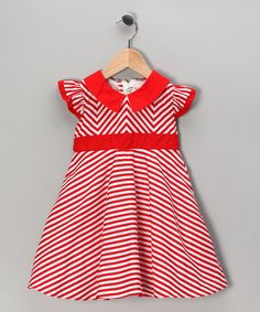 Take a look at this Red Stripe Dress - Toddler & Girls by Maggie Peggy on #zulily today!