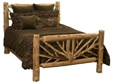 Cedar Log Bent Branch Twig Bed ~ Heritage Collection