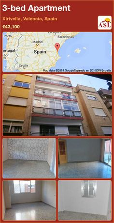 3-bed Apartment in Xirivella, Valencia, Spain ►€43,100 #PropertyForSaleInSpain