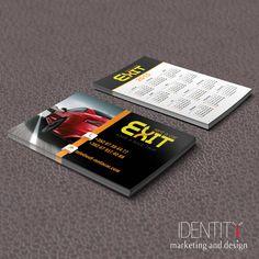 Dizajn vizit karti za klijenta Exit - Rent a car / Design of business cards for client Exit - Rent a car Business Cards, Marketing, Design, Lipsense Business Cards, Name Cards, Visit Cards