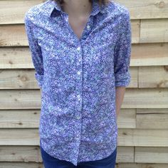 pictures of libery of london fabric made into garments - Google Search Floral Blouse, Liberty, London, Sewing, Fabric, Tops, Dresses, Google Search, Women