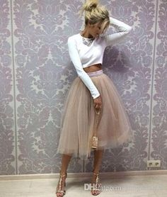 2016 Blush Pink Pastel Tulle Skirt Real Picture Knee Length White Tulle Tutu Skirts For Adults Custom Made Cheap Women Clothing Tulle Skits From Gaogao8899, $22.12 | Dhgate.Com