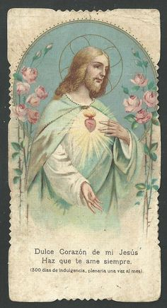 Catholic Crafts, Catholic Art, Vintage Holy Cards, Jesus Christ Images, Christmas Jesus, Heart Of Jesus, Majestic Animals, Prayer Cards, King Of Kings