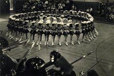 The Kilgore Rangerettes. Kilgore College, Kilgore, Texas