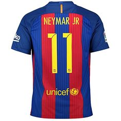 Cheap 11 Neymar JR Home Adult Mens Soccer Jerseys 16/17 (M) Father day sale