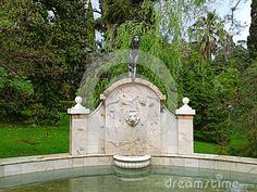 Fountain in park Dendrarium, Sochi