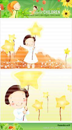 사람, 식물, 여자, 어린이, 빛, 꽃, 자연, 일러스트, 별, freegine, 소녀, 친환경, 꽃밭, 에프지아이, FGI, pai001 #유토이미지 #프리진 #utoimage #freegine 3876548