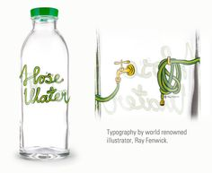 'Hose Water' Glass Bottle When you buy one, two, or three bottles, a portion of sales will be combined with those from other customers to make one filter. When you buy four bottles a complete filter will be manufactured and donated on your behalf to a family in India who needs it.