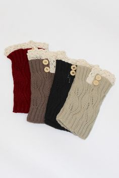 Short Leg Warmers with Buttons + Lace - The Fair Lady Boutique - 1
