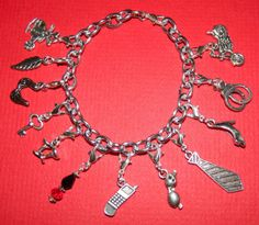 Handmade-Silver-Clip-On-Charm-Bracelet-13pc-Fifty-Shades-of-Grey-Theme-Clip-On